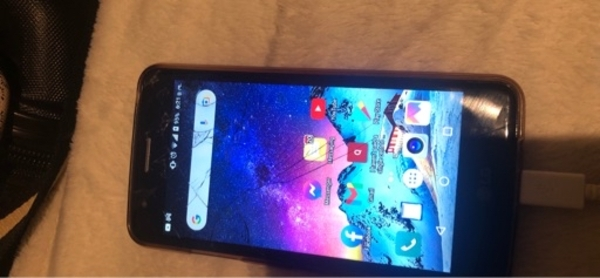 Used Lg with a little crack on screen in Dubai, UAE