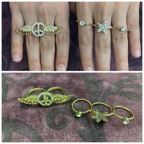 Used Bundle of 19 ring and 5 bracelets in Dubai, UAE