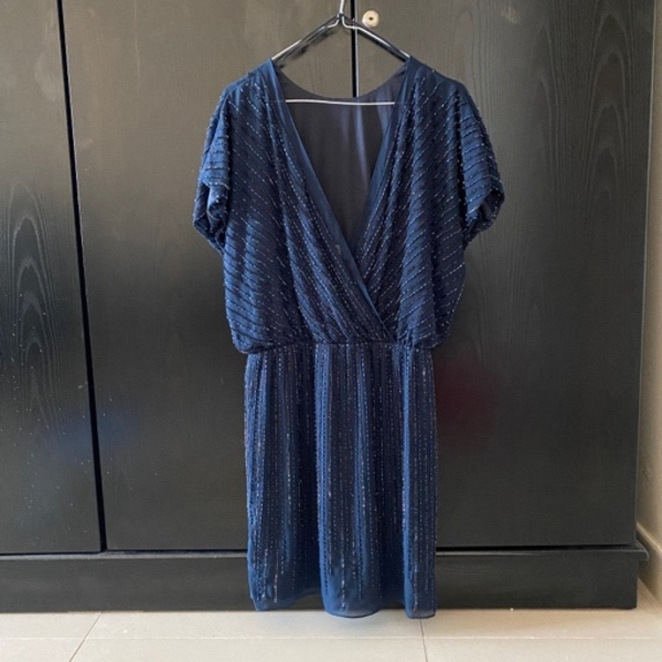 Used Mango Sequins dress Navy blue in Dubai, UAE