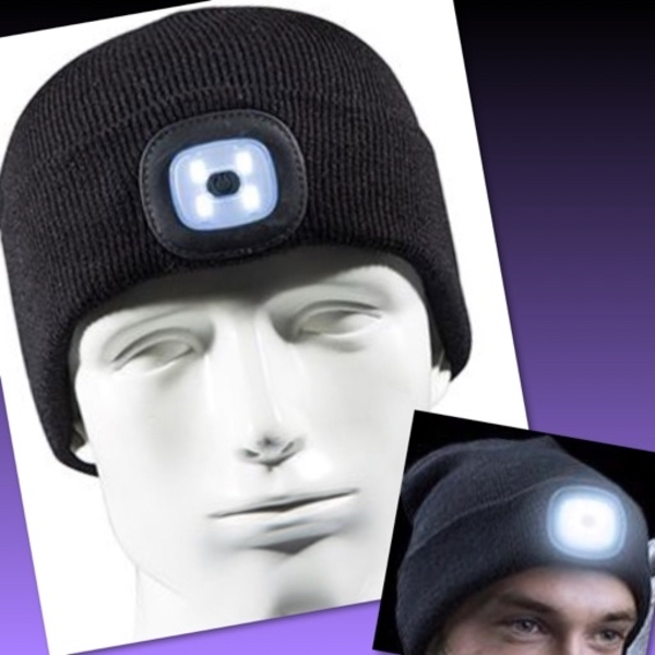 Used USB RECHARGEABLE LED KNITTED BEANIE CAP in Dubai, UAE
