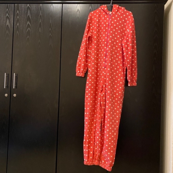 Used Red polka dot onesie in Dubai, UAE