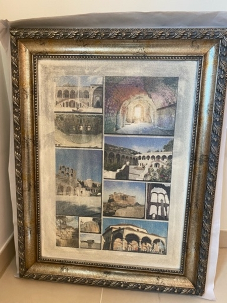 Used Historic wall art with an antique frame in Dubai, UAE