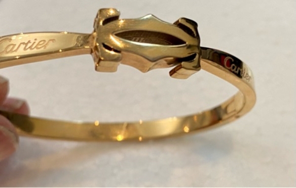 Used Cartier gold cuff bracelet in Dubai, UAE