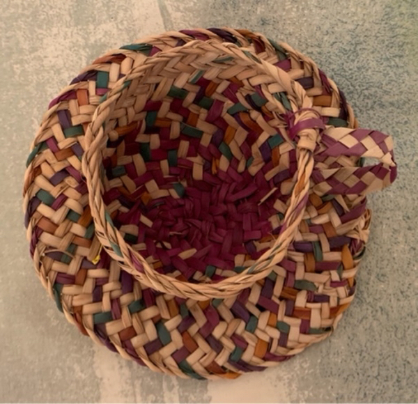 Used Hand made Palm fronds Small basket in Dubai, UAE