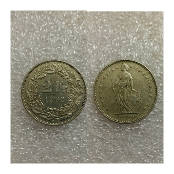 Used Two Francs Coin from Switzerland in Dubai, UAE