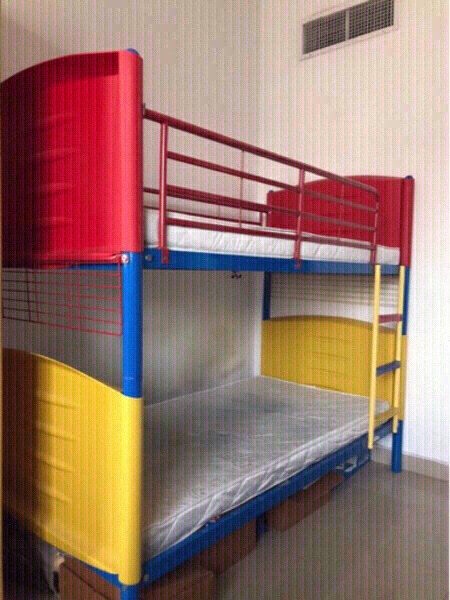 Used bunk bed with mattresses for 1000 only in Dubai, UAE