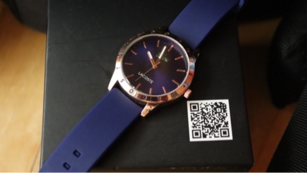 Used Lacoste watch copy/women blue and gold in Dubai, UAE