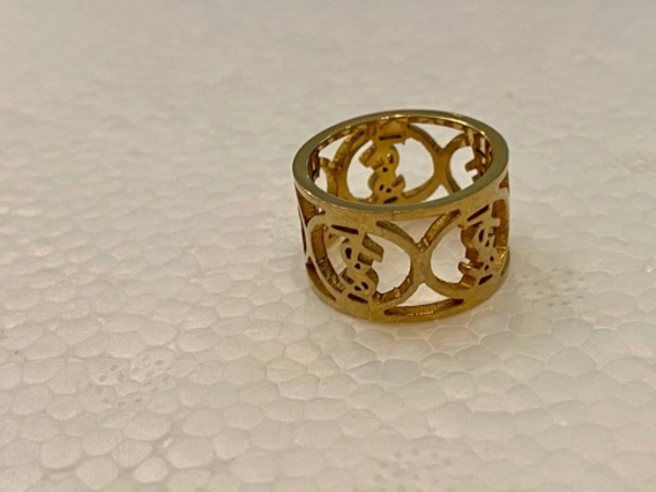 Used YSL wide band ring size 8 in Dubai, UAE