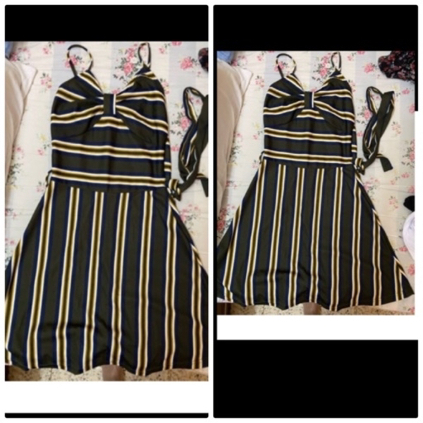 Used Summer dress with belt in Dubai, UAE