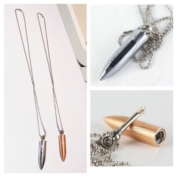 Used 2 Bullet pendant lighter necklaces in Dubai, UAE