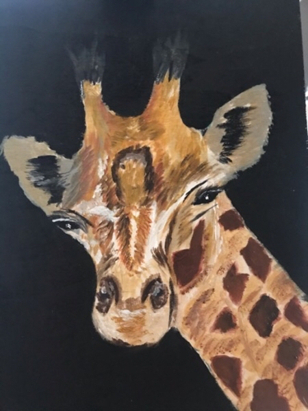 Used Art giraffe painting in Dubai, UAE