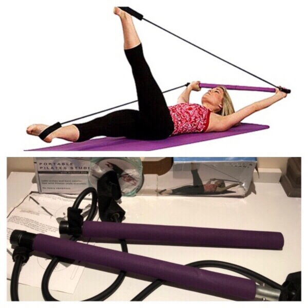Used Portable Pilates equipment with DVD 📀 in Dubai, UAE
