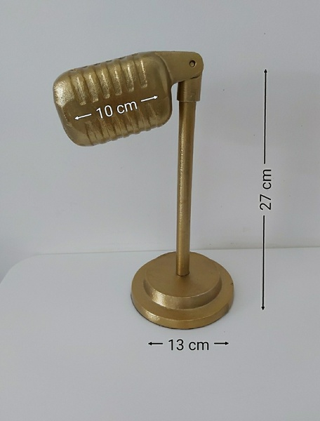 Used Metal gold color microphone statue in Dubai, UAE