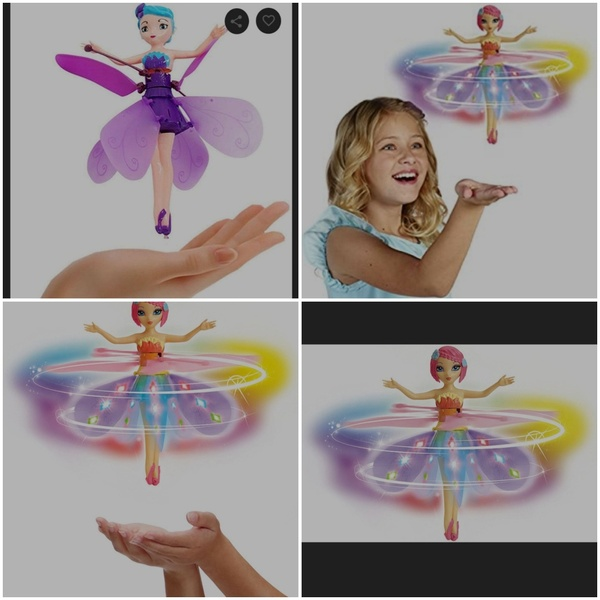 Used Girl's Flying Fairy Toy with Free Gift🎁 in Dubai, UAE