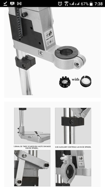 Used Electric drill stand adjustable height N in Dubai, UAE