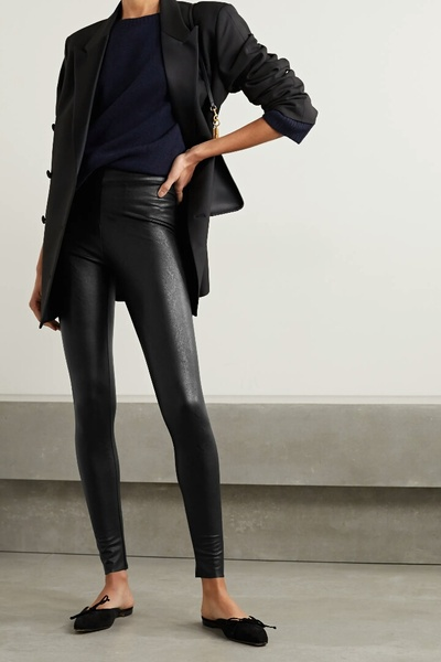 Used Stretch fit faux leather pant brand new in Dubai, UAE