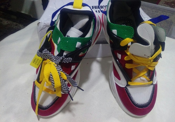 Used Star running shoes colorful new41 size in Dubai, UAE