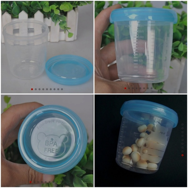 Used Baby Bundle(4 Food Cups & Organiser Bag) in Dubai, UAE