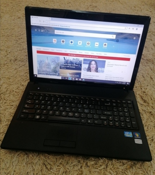 Used Lenovo G570 laptop Black in Dubai, UAE