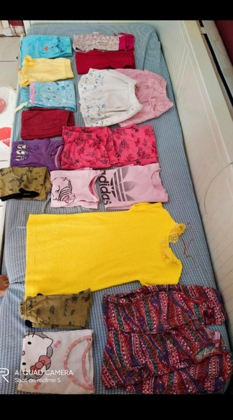 Used 5-6 yrs old girl clothes shoes bundle❤️ in Dubai, UAE