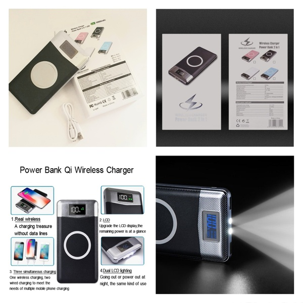 Used 2 In 1 Wireless Power Bank 10000mah (New in Dubai, UAE