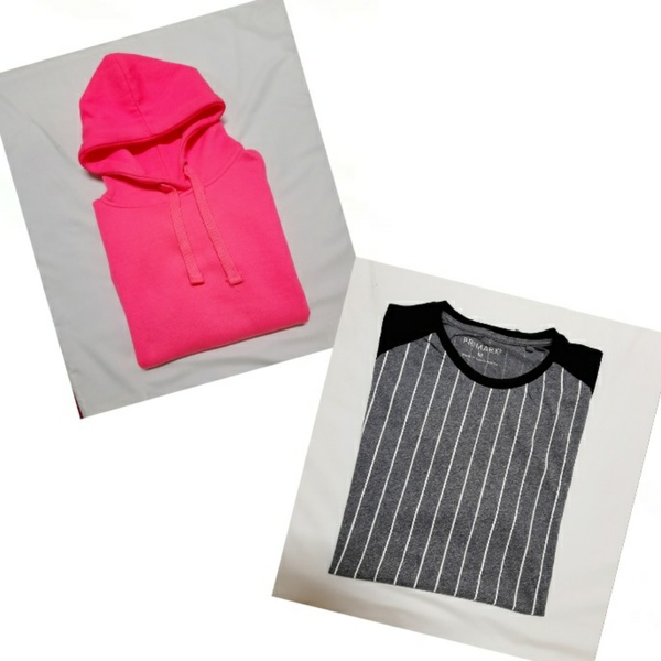 Used Pink Hoodie with Free New T-Shirt (M) in Dubai, UAE