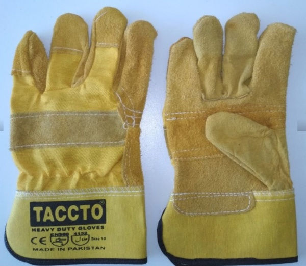 Used GLOVES LEATHER YELLOW H/D 1dozen in Dubai, UAE