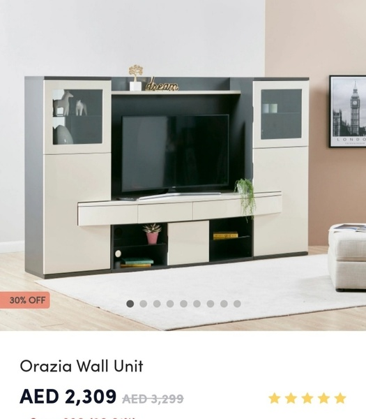 Used TV Wall Unit / Table from Home Center in Dubai, UAE
