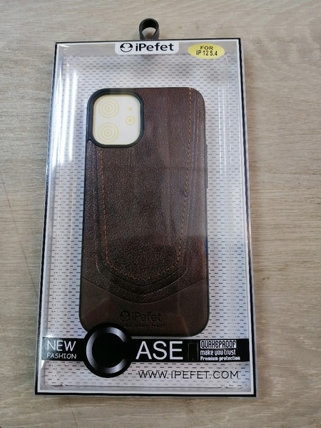 Used Iphone 12-5.4 inches leather case in Dubai, UAE