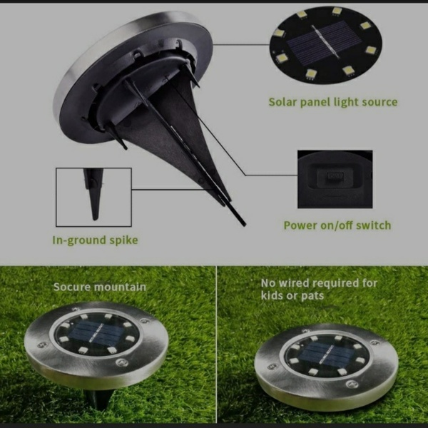 Used 8 Pieces LED Solar Floor Lights (New) in Dubai, UAE