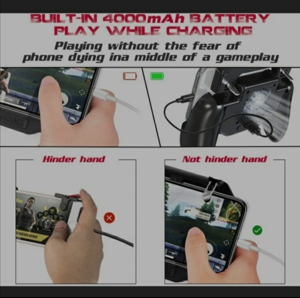 Used Mobile Game pad with bulit in power bank in Dubai, UAE