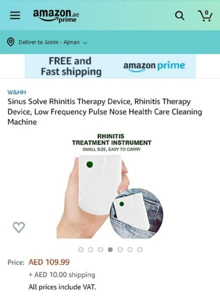 Used Sinus-Slove Nose Relief Therapy NEW in Dubai, UAE