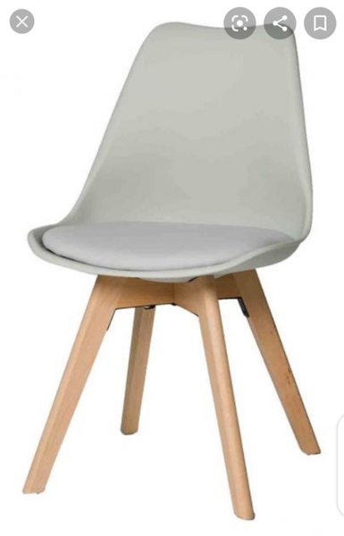 Used Plastic dining chair with cushion seat p in Dubai, UAE