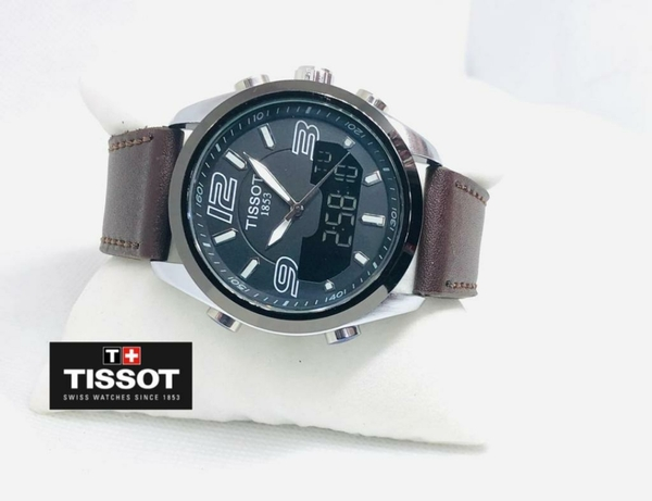 Used Tissot Leather strap mens watch brown in Dubai, UAE