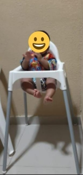 Used IKEA Baby high chair for feeding in Dubai, UAE