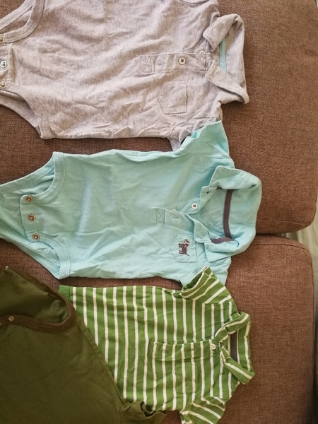 Used 4 pc. Body suits. 9 months. Branded in Dubai, UAE