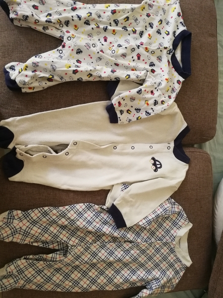 Used 6-12 months full body baby suits. in Dubai, UAE