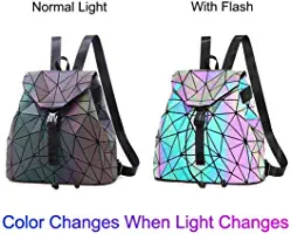 Used Holographic Reflective Backpack NEW in Dubai, UAE
