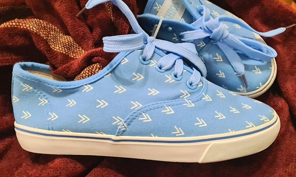 Used Sky blue canvas shoes size 37 in Dubai, UAE