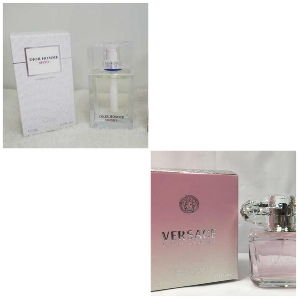 Used Perfumes:Dior for Him & Versace for Her in Dubai, UAE