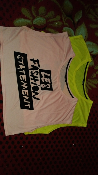 Used Two pieces top pink and yellow in Dubai, UAE