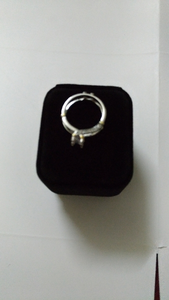 Used Silver plated double round ring size 20 in Dubai, UAE