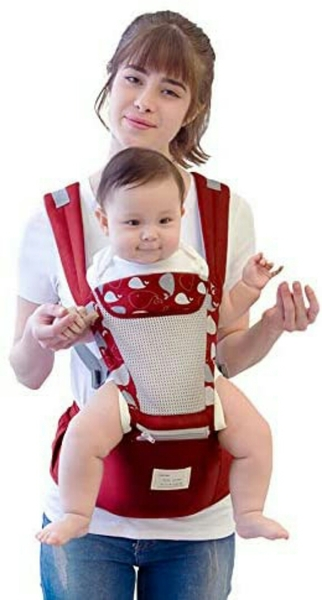 Used Ergonomic baby carrier new pink color in Dubai, UAE