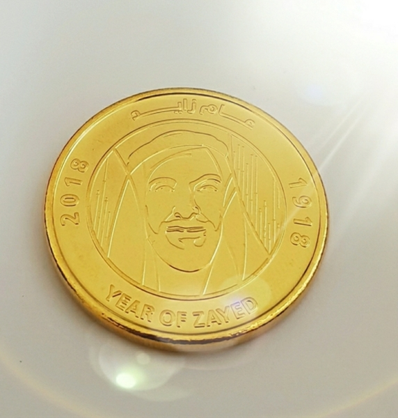 Used Gold plated coin in box 🗣SALE in Dubai, UAE