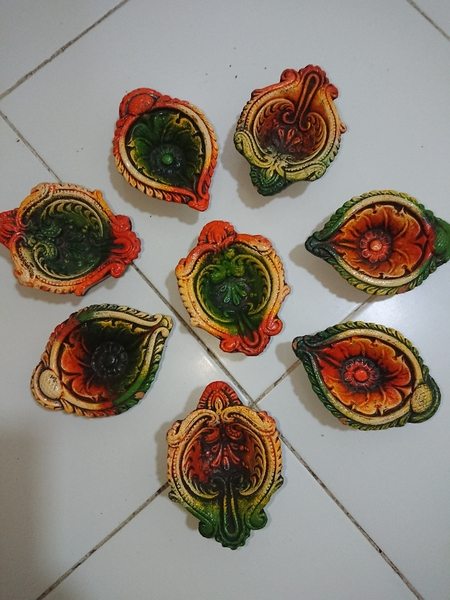Used Small clay decorations for candles in Dubai, UAE