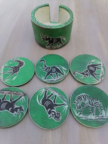Used African Hand Carved and Painted Coaster in Dubai, UAE