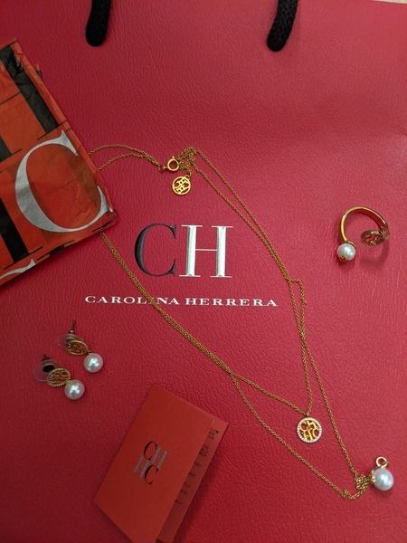 Used Carolina Herrera necklace earrings ring in Dubai, UAE