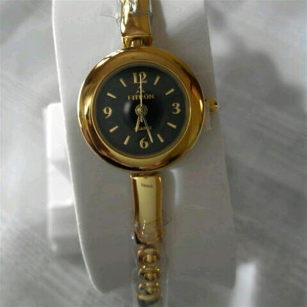 Used Fitron Watch, Japan Movt., Gold Plated Half Bangle Watch in Dubai, UAE