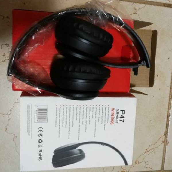 Used New P47 black bluetooth headphones in Dubai, UAE