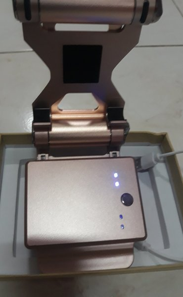 Used Power bank with stand 2USB port 10400mah in Dubai, UAE